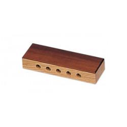 "Tambor grallers Ø30.5 cm/12"" x 26 cm altura, madera, parches de piel, cuerda"