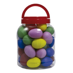 Bote 20 pares huevos plástico