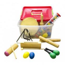 Lote 10 instrumentos (baúl...