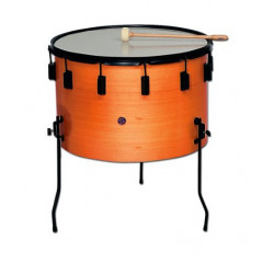 "Marching wood drum Ø25.6 cm/10"" x 26 cm, polyester head. COLOUR"