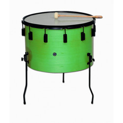"Marching wood drum Ø35.6 cm/14"" x 26 cm, polyester head. COLOUR"