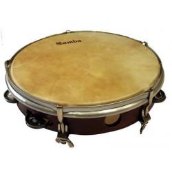 Tunable tambourine calfskin...