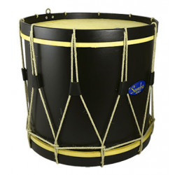 "Ø38.1 cm/15"" x 19 cm, FORCE drum, aluminium, golden laquered shell."