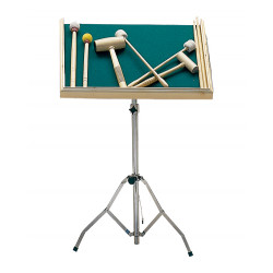 Tray for mallets and sticks