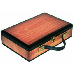 Wooden case for castanets